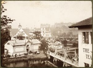 View of buildings at the 1901 International Exhibition in Kelvingrove Park, Glasgow