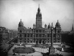 View of the City Chambers, 82 George Square, Glasgow. Date: c1900