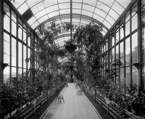 View of the conservatory, Peebles Hydropathic, Scottish Borders. Date: 1894