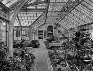 View of the conservatory, Seafield House, Ayr. Date: 1890