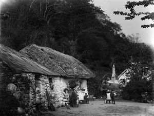 View of cottage in Onich village, Inverness-shire. Date: 1899