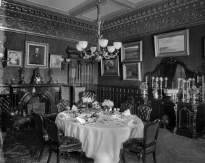 View of the dining room, Gallowhill House, Paisley. Date: 1890