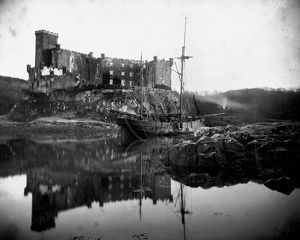 View of Dunvegan Castle, Skye. Date: c1890