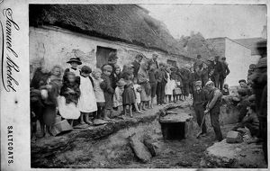 View of excavation of a Bronze Age cist at Pun Brae, Stevenston, Ayrshire. Date: 1895