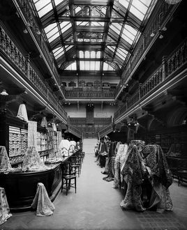 View of the fabrics department in Jenner's Department Store, Princes Street