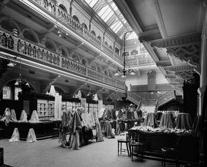 View of the fabrics hall in Jenner's Department Store, Princes Street, Edinburgh