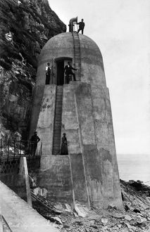 View of fog horn on Ailsa Craig. Date: pre1901