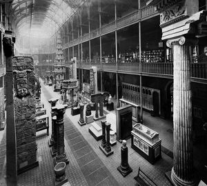 View of the Great hall of the Edinburgh Museum of Science and Art, Chambers Street