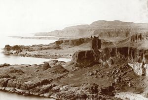 View of Gylen Castle on the Island of Kerrera in the Firth of Lorn. Date: c1880