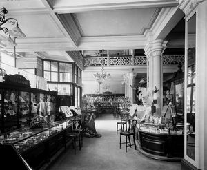 View of the haberdashery department in Jenner's Department Store, Princes Street