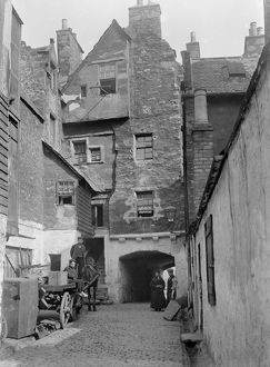 View of Huntly House from Bakehouse Close, 146 Canongate, Edinburgh