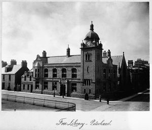 View of the library, 53 St Peter's Street, Peterhead. Date: c1890