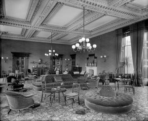 View of the lounge area, Peebles Hydropathic, Scottish Borders. Date: 1894