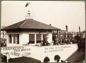 View of Mrs Cranston's Tea Rooms at the 1901 International Exhibition in Kelvingrove