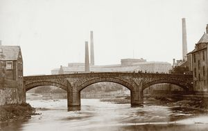 View of the Old Bridge, Paisley. Date: c1878