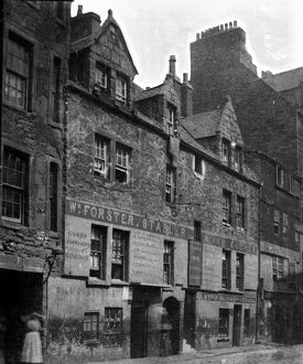 View of the premises of William Forster, stabler and inn keeper in Cowgate, Edinburgh