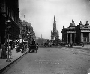 View of Princes Street with the Scott Monument and Royal Scottish Academy, Edinburgh