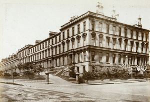 View of Ruskin Terrace and corner with Hamilton Park Avenue, Glasgow. Date: c1870