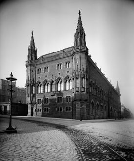 View of the Scottish National Portrait Gallery, Queen Street, Edinburgh. Date: c1900