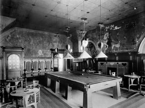 View of the snooker room in Mrs Cranston's Tea Rooms, Buchanan Street