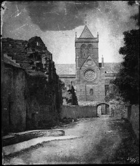View of St Magnus Cathedral, Kirkwall. Date: 1857
