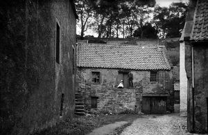 View of the Tron Shop, Sandhaven, Culross. Date: c1883