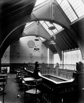 View of the upper level smoking gallery in Mrs Cranston's Tea Rooms