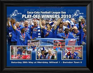Millwall FC Play-Off Winners 2010 Framed Print