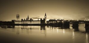 UK, London, Houses of Parliament, Big Ben, River Thames, Westminster Bridge