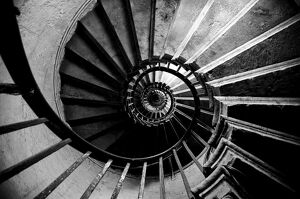 UK, London, The Monument, Internal spiral staircase