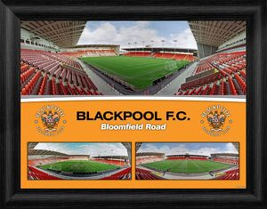 Blackpool F.C. Bloomfield Road Framed Panoramic Montage Print