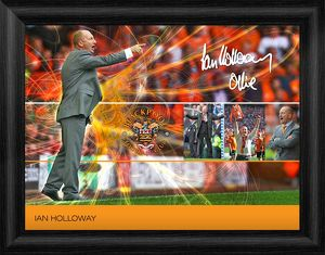 Blackpool Ian Holloway Framed Player Profile Print