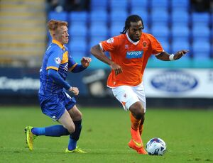 Capital One Cup - First Round - Shrewsbury Town v Blackpool - Greenhous Meadow