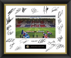 1st Team 140th Anniversary Signed Framed Print