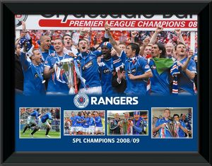 2008/09 SPL Champions Framed 16x12' Montage Print