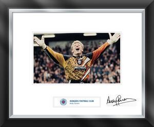 Andy Goram signed and mounted print