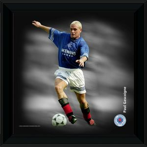 Paul Gascoigne Framed Dynamic Action Print