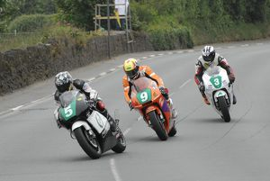 Chris Palmer (Honda) and Ian Lougher (Barnes) and Michael Dunlop (Honda) 2009 Post TT