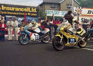 Gary Radcliffe (Yamaha) and Michael Dunlop (Yamaha) 1992 Junior TT