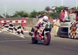 Geoff Johnson winning the 1987 Production B TT