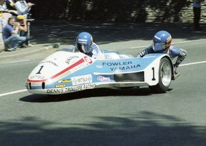 Jock Taylor at Braddan Bridge: 1982 Sidecar Race B
