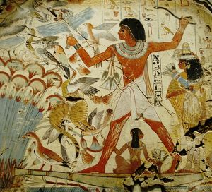 Mural from the wall of the tomb-chapel of Nebamun near Thebes Egypt dates to around