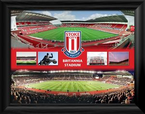 Britannia Stadium Framed Panoramic Montage