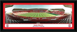 Britannia Stadium Empty Framed Panoramic Print