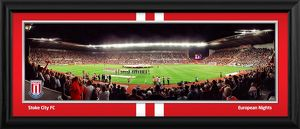 Europa League Line Up Framed Panoramic