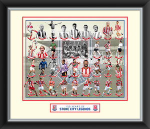 Stoke City Legends Framed Print