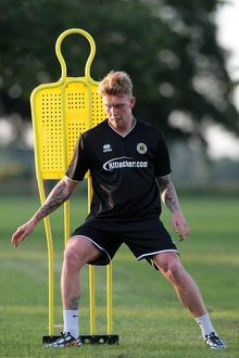 Conor Marshall during Boston United's first pre season training session in preparation
