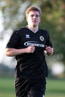 Dayle Southwell during Boston United's first pre season training session in