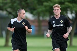 Ricky Miller (left) and Conor Marshall during Boston United's first pre season