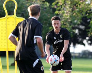 Sam Vince during Boston United's first pre season training session in preparation